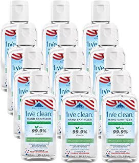 Live Clean Hand Sanitizer with Aloe, 2 Oz (Pack of 12)