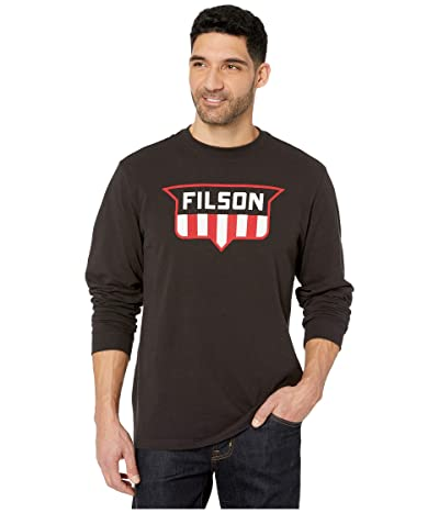 Filson Long Sleeve Outfitter Graphic T-Shirt (Faded Black) Men