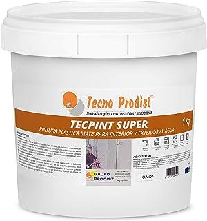 TECPINT SÚPER de Tecno Prodist - 1 Kg (BLANCO) Pintura para Exterior e Interior al Agua - Buena Calidad - Lavable - Fácil Aplicación