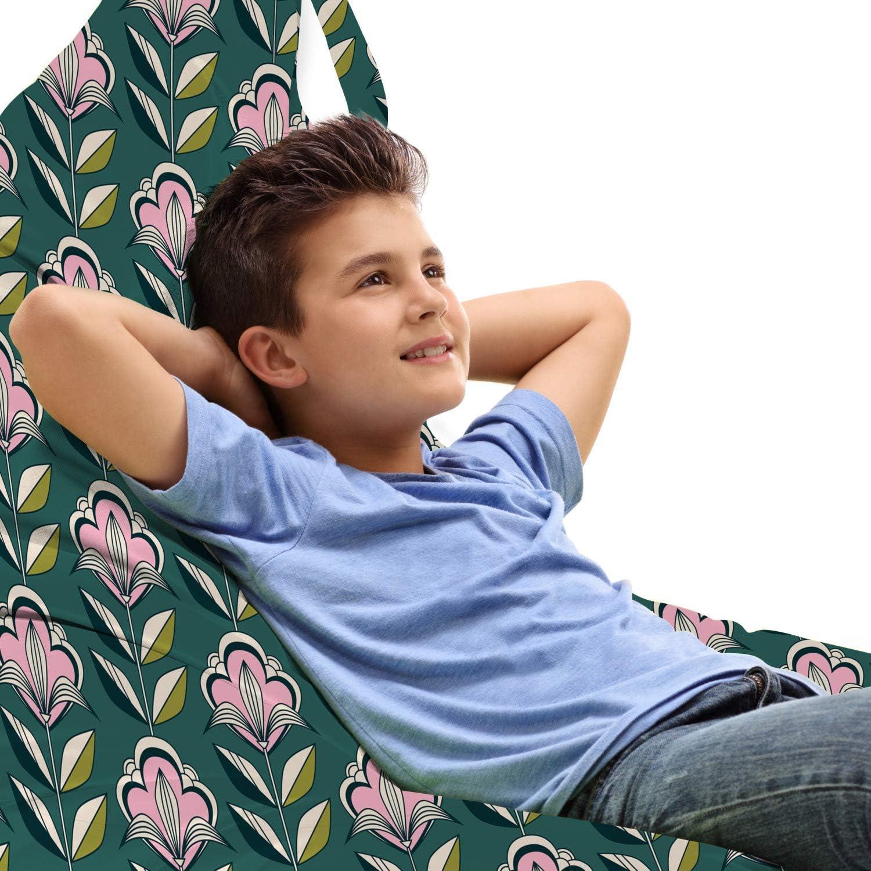 Lunarable trend rank Mid Century Lounger Chair Bag Philadelphia Mall Spri Continuous Vintage