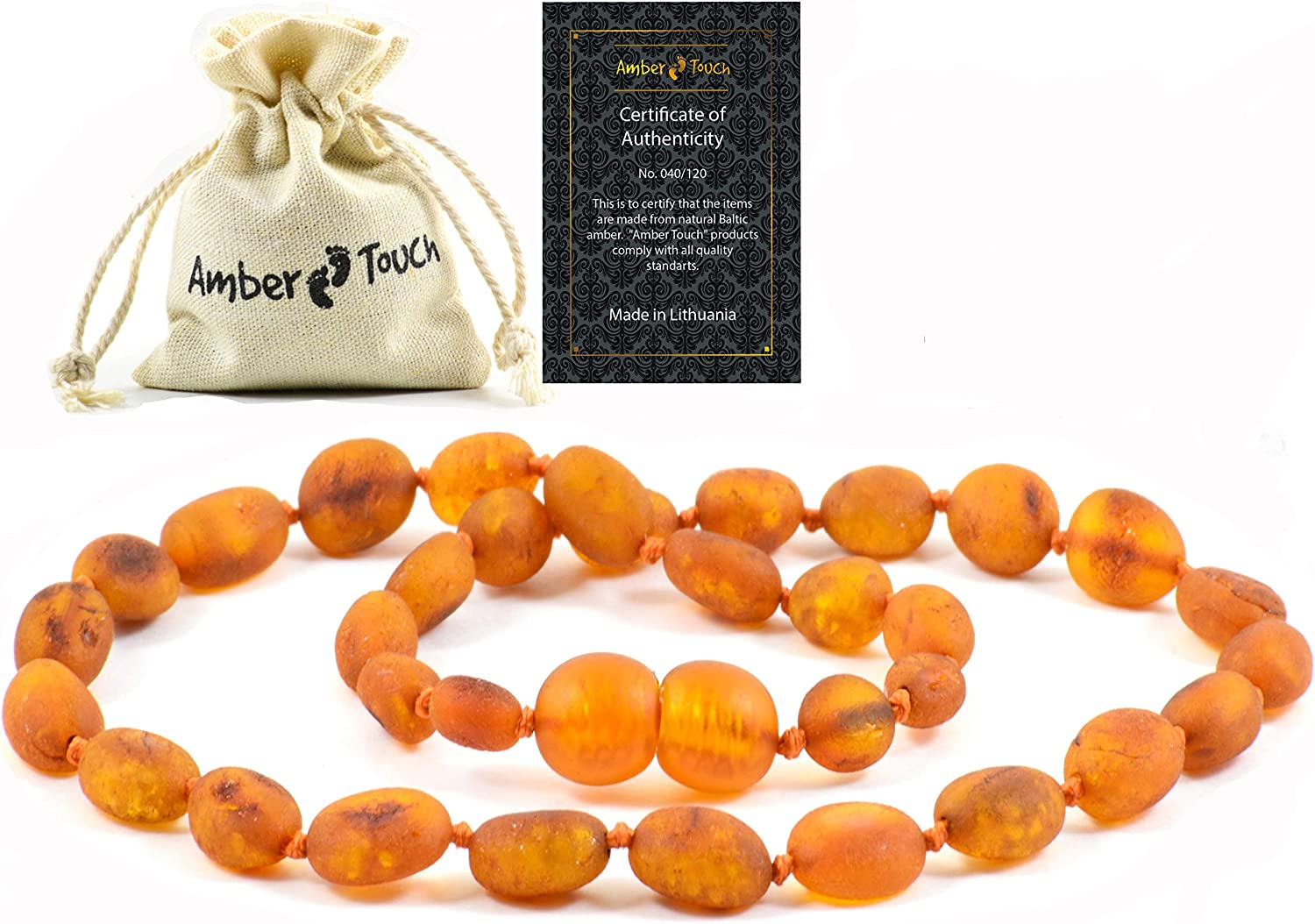 RAW favorite Chicago Mall Baltic Amber Necklace Gen -Natural Region from