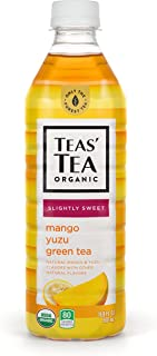 Teas' Tea Mango Yuzu Green Tea, 16.9 Ounce (Pack of 12), Organic, Cane Sugar Sweetened, No Artificial Sweeteners, Antioxidant Rich, High in Vitamin C