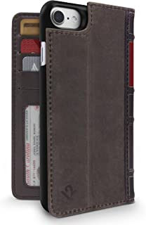 Twelve South BookBook for iPhone 8/ 7/ 6 | 3-in-1 leather wallet case, display stand and removable shell (brown)