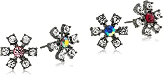 Betsey Johnson Womens Mixed Daisy Stud Earrings Set