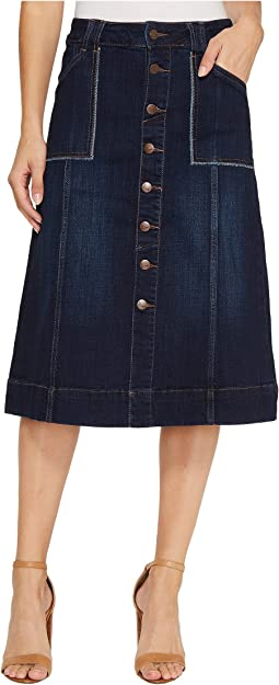 Jag Jeans Dover Skirt in Crosshatch Denim
