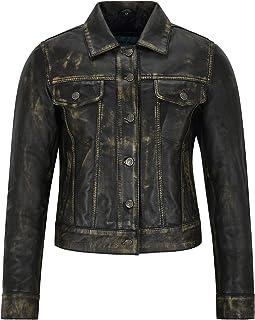 Trucker Vintage Leather Jacket for Women, Washed Leather Jacket, Summer Jacket, Jacket Shirt 1680