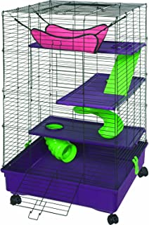 Kaytee My First Home Deluxe 2X2 Multi-Level with Casters