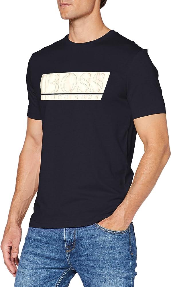 Boss teeonic, t-shirt,maglietta per uomo,65% cotone, 35% poliestere 50431774