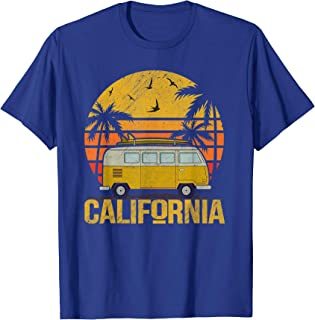 Surfing California T-Shirt Vintage Van Surfer Summer T-Shirt