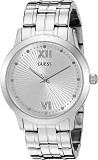 GUESS Women's U0634L1 Vintage Inspired Dressy Silver-Tone Watch