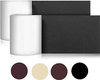 YSAGi貼るレザー、合皮補修シート、ソファー、家具、革補修粘着テープ、防水、臭みなし、柔らかい補修シート、DIY、初心者でも補修できる (黒 二巻)