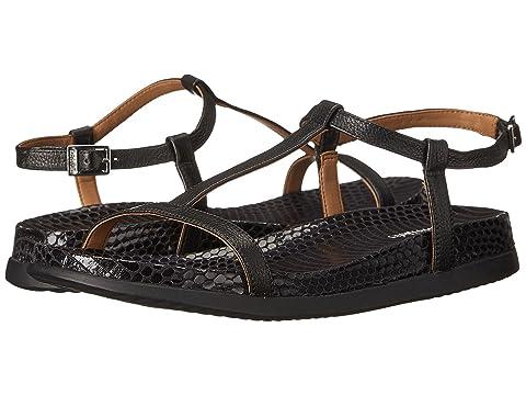 Womens Sandals Calvin Klein Doma Black Toscana Leather