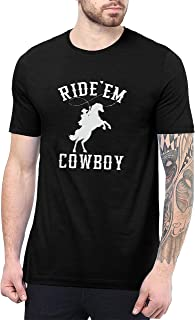 Ride 'Em Cowboy Shirt - Rodeo Graphic Vintage T Shirts for Men