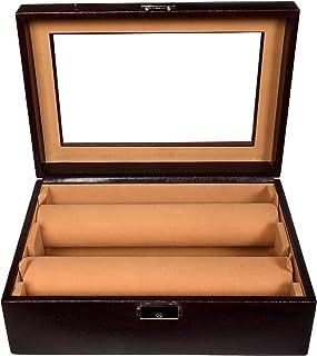 Stones Bridge Exclusive PU Leather Bangle Box/Bangle Storage Box (Brown)