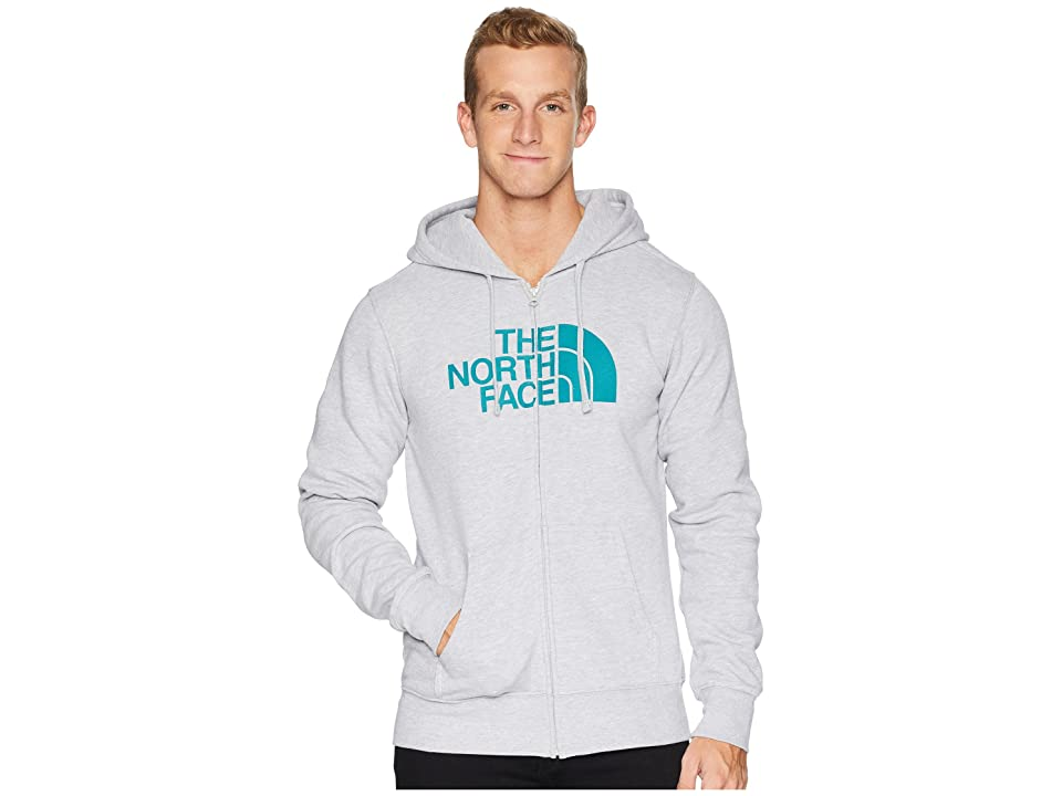 The North Face Half Dome Full Zip Hoodie (TNF Light Grey Heather/Everglade) Men