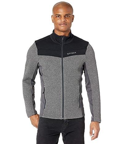 Spyder Encore Full Zip Fleece Jacket (Black/Ebony) Men