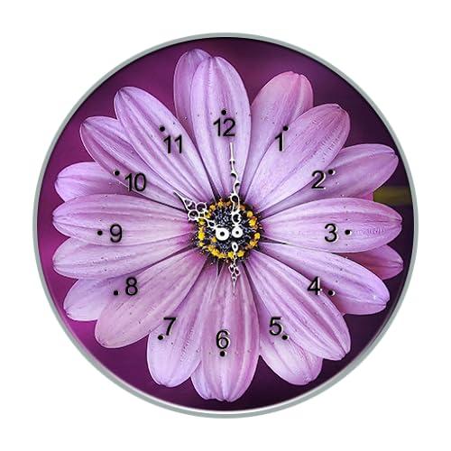 White Flower Clock Live wallpaper