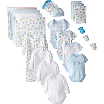 Spasilk 23-Piece Essential Baby Layette Set — Newborn Baby Clothes — Baby Boy and Baby Girl — Baby Shower Gift