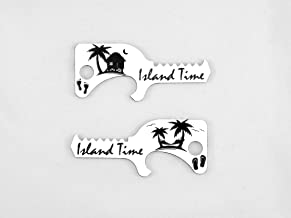 Tiger's Tooth Island Time Bottle Opener - Stainless Steel minimalist keychain tool - EDC - Limited Edition