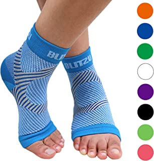 Best BLITZU Plantar Fasciitis Compression Socks For Women & Men - Best Ankle and Nano Sleeve For Everyday Use - Provides Foot & Arch Support. Heel Pain, and Achilles Tendonitis Relief. BLUE L/XL Review