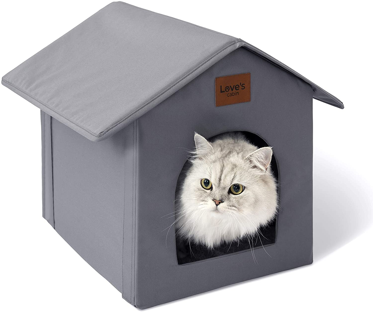 Love's National products cabin Outdoor Cat House for Weatherproof Collapsi 2021 Winter