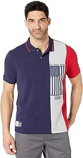 Short Sleeve Pieced Flag Polo