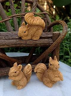 NEW ~ Set of 3 Mini Resin Squirrels Miniature Dollhouse FAIRY GARDEN Accessories