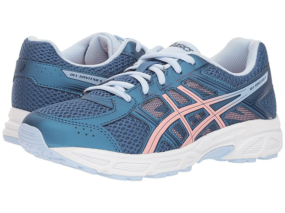 ASICS Kids GEL-Contend 4 GS (Big Kid) (Azure/Frosted Rose) Girls Shoes