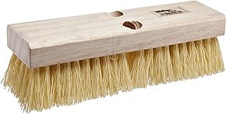 "Weiler 44434 10"" Block Size, 6 X 18 No. Of Rows, Wood Block, Polypropylene Fill, Deck Scrub Brush, Natural"