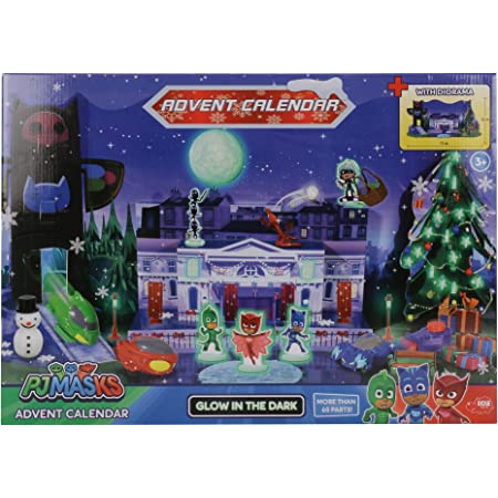 Pj Masks Advent Calendar with Diorama and Glow-in-The-Dark Effects Toy playset Roleplay Pre School Activity Toy for Kids Boys Girls Age 3 Years and Above