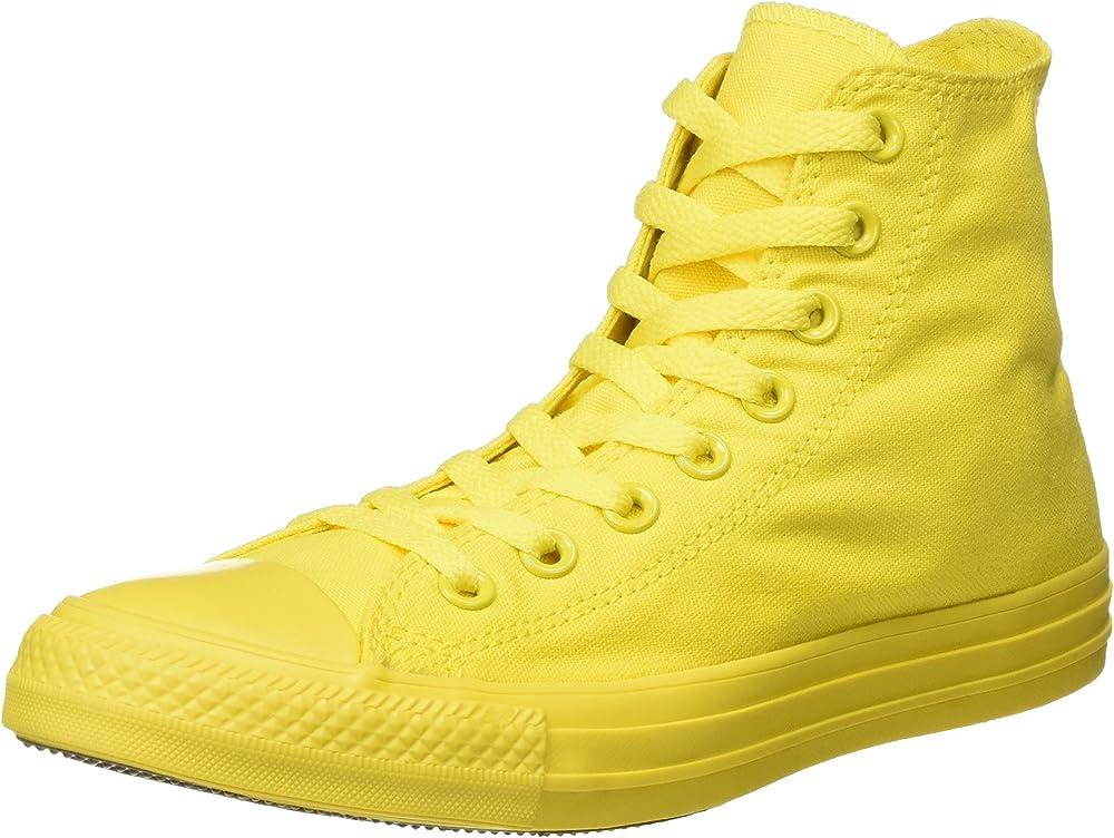 Converse - monocrome all star hi sneaker casual unisex a collo alto in tela All Star Hi Canvas Mono