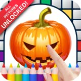 Jack-o'-lanterns Color by Number - No Ads Pixel Art Game - Coloring Book Pages - Happy, Creative & Relaxing - Paint & Crayon Palette - Zoom in & Tap to Color - Share Creations with Friends!