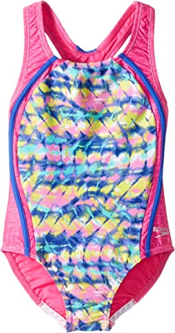 Speedo Kids - Digi Zigzag Heather Sport Splice (Big Kids)