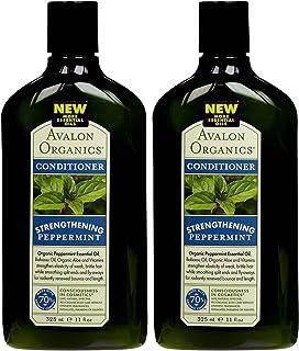 Avalon Organics Revitalizing Conditioner, Peppermint, 11 oz, 2 pk