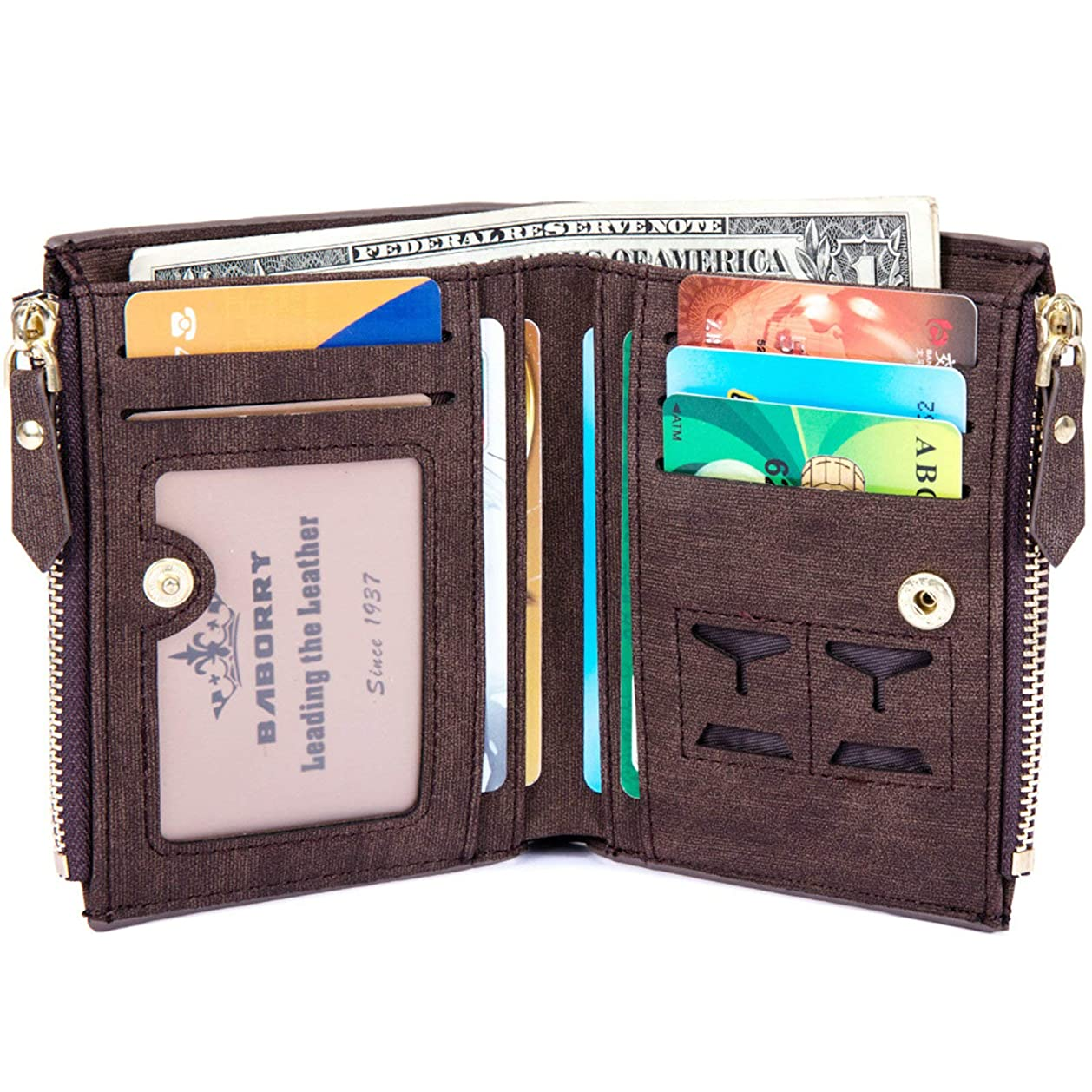マディソン顧問よろめくAdisaer-PU レザー メンズ 男性用 財布 小銭入れ 二つ折り財布 カード入れ 父の日 記念日 誕生日 ギフト プレゼント 特別な贈り物