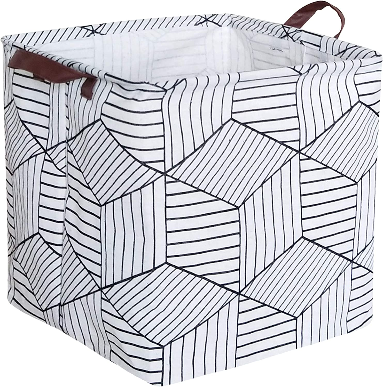 HIYAGON Square Storage Bins Canvas Storag Sale special price Fabric New York Mall baskets