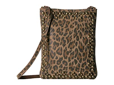 Leatherock Yvette Cell Pouch (Leopard Tan) Cross Body Handbags