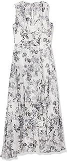 Women's Chiffon Sleeveless V Neck Maxi Dress
