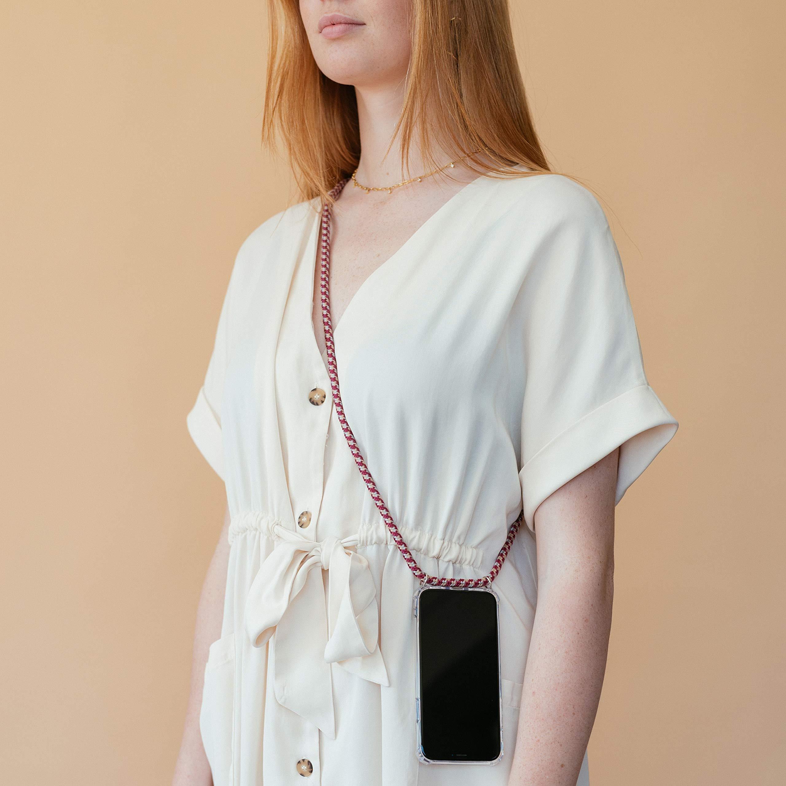 Hanek Funda iPhone 11 Funda de móvil con cordón para Colgar – Cuerda para Llevar en el Cuello Colgante – Carcasa de TPU de Alta Resistencia – Deja el Bolso en Casa –