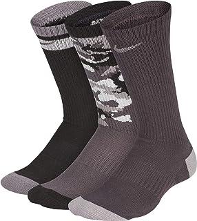 Nike Everyday Cushioned Boys Kids' Crew Socks (3 Pairs) SX6383