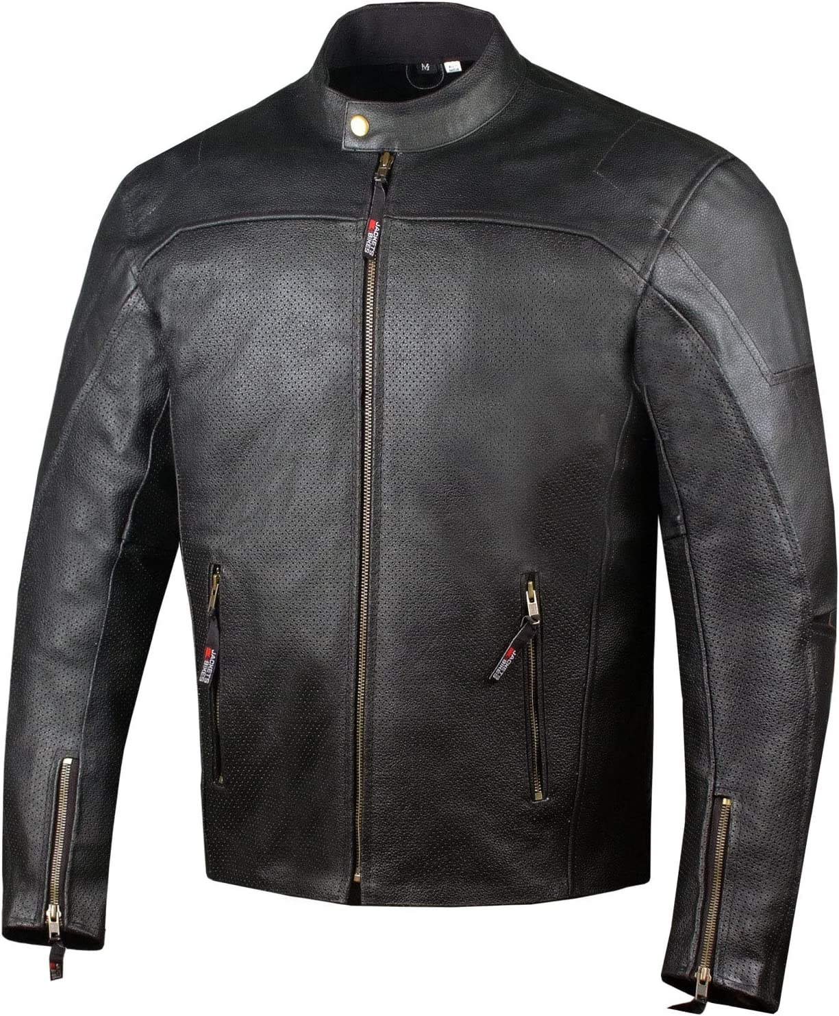 Men's Airflow Perforated Leather Outlet ☆ Free Shipping Protected CE Armor Motorcycle Large special price B