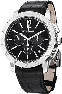 Bvlgari Bvlgari Chronographe Men's Automatic Black Leather Strap Watch BB41BSLDCH