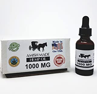 1500mg All-Natural Hemp Oil Drops – Reduces Stress and Anxiety – Pain Relief, Healthier Skin and Hair – GMP Seal, Made in ...