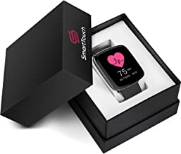 Smart Touch GV68 Smart Watch w/Changeable Wrist Bands, IP68 Waterproof, Built-in Mic and Speaker | Bluetooth | Sleep & Heart Rate Monitor, Pedometer, Remote Camera | Men, Women (Pink)