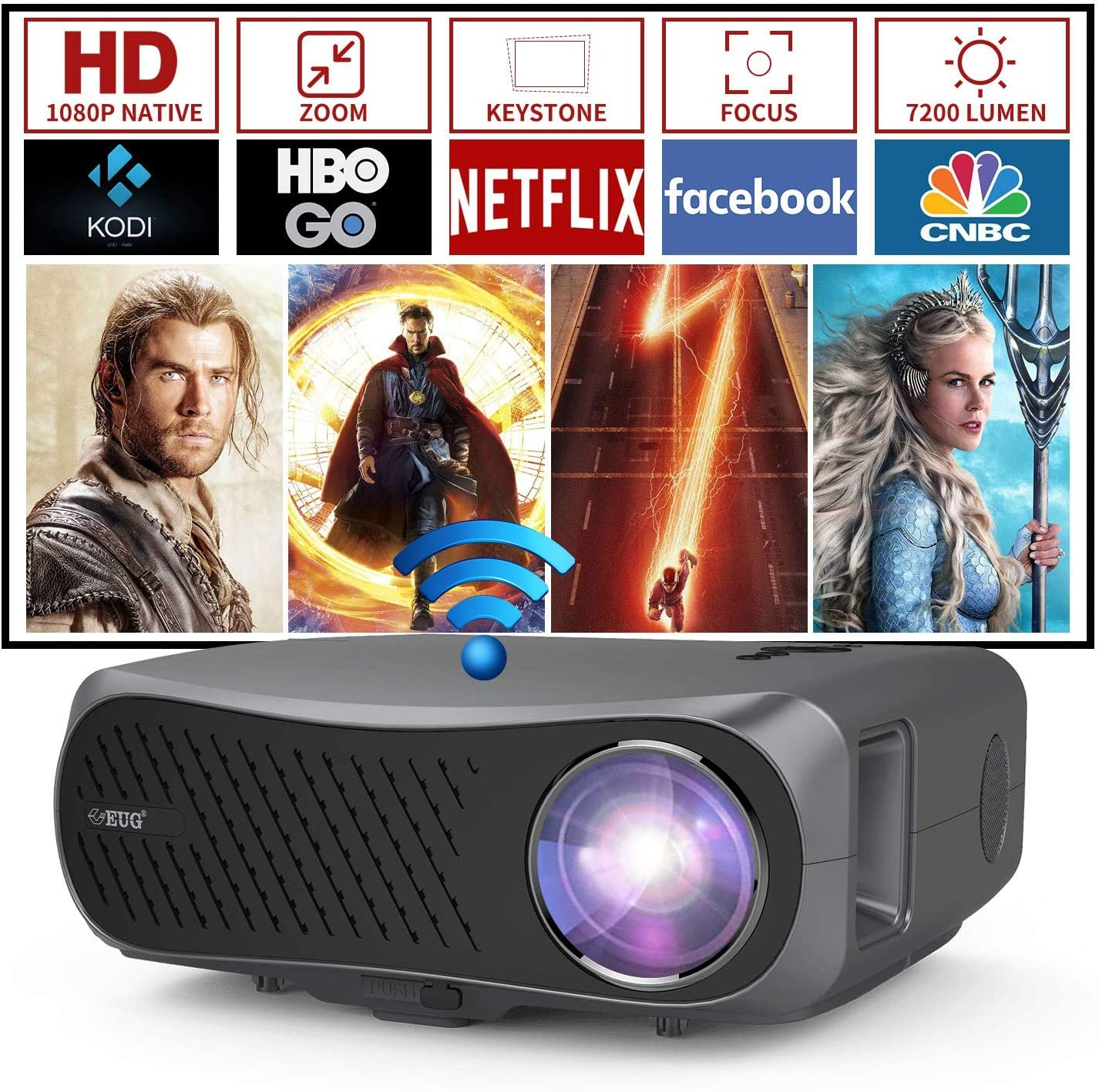 Dual 5G Arlington Mall WiFi Wireless Projector with In a popularity 200 I OS Bluetooth Android