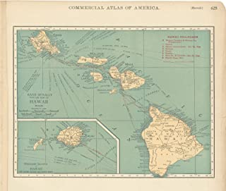 Historic Pictoric Map - Hawaii 1925 - Vintage Poster Art Reproduction - 24in x 18in