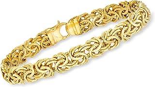 Ross-Simons Certified Italian 14kt Yellow Gold Byzantine Bracelet