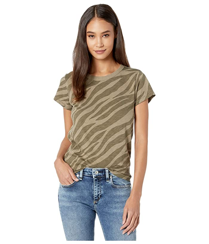 rag and bone  All Over Zebra Tee (Army Multi) Womens Clothing