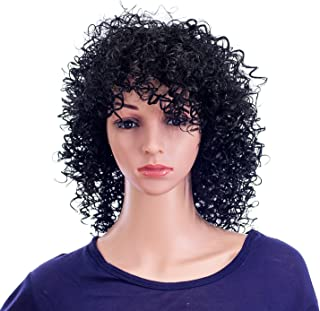 Best short blonde curly wig with bangs Reviews