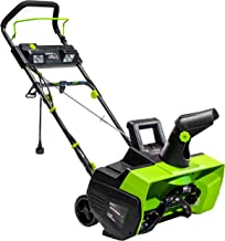 Earthwise SN71022 22-Inch 14-Amp Electric Corded Snow Thrower with LED Lights, Green/Black